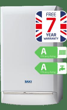 Baxi duo tec combi boiler 7 year warranty energy saving for Manuale baxi duo tec